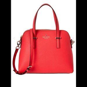Kate Spade Red Satchel Crossbody Bag